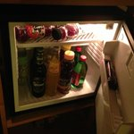 Well stocked reasonable minibar