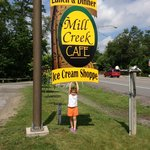 Mill Creek Cafe Sign
