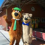 Yogi Bear and his friend BooBoo who has been visiting us this summer!!