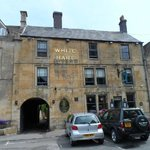 The front facade of The White Hart in Stow on the Wold