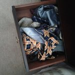 Ties in Drawer of Bedside Unit Room 2 Inverlochy Villas 23 July 2013