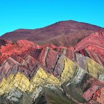Dazzling rock colours, Hornocal viewpoint