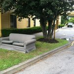 La Quinta abandoned couch welcome
