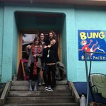 Outside the wonderful Bungi Backpackers. More than