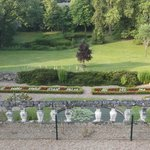 The garden of the chateau - view from room