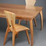 The Lily Dining Table and Lily Chairs