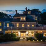 In a quiet enclave, near the harbor:  The Bass Cottage Inn on a summer evening