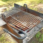 Grill is outdated and you couldnt cook on it if you wanted to