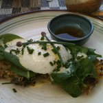 followed by a very fresh egg and rosti - delicious start to the day