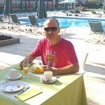 Breakfast at Clipper Hotel and Villas. lovely...