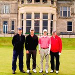 Our group on the 1st tee at the Old Course