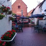 The Inn Courtyard- accommodation in red brick building