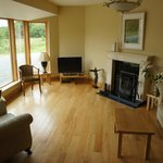 Sitting room, log fire