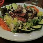 The black and blu steak salad is outstanding.