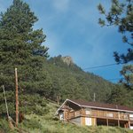 A great view of Eagle Cliff Mountain.  You are a 3 min walk from the RMNP