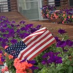Beautiful all American flower boxes!