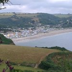 Pentewan Sands Holiday Park seen from the coastal path leading to Mevagissey