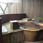 In-room open-air onsen (hot spring bath)