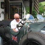 Herr Schneider in vintage Bentley