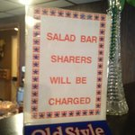Be Forwarned: Salad bar sharing will be prosecuted!