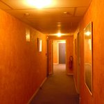 One of the orange corridors