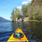 Arriving at East Lodge by kayak