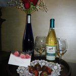 This was giving to us by the hotel to celebrate our annivesary