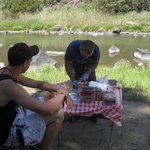 Our first lunch on the river