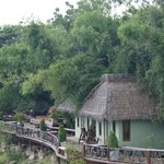 View to bungalows from restaurant