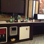 TV, PC, mini fridge, water dispenser