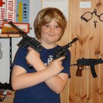 Jack loved the ability to feel the weight of the guns