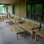 Outdoor deck seating for the Butternut Cafe