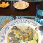reindeer stew/soup prepared by Outi