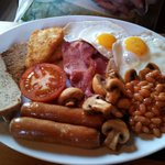 All day breakfast pub meal.  Very nice.