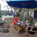 The super cute courtyard at El Angel Azul