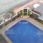 View to the pool from above