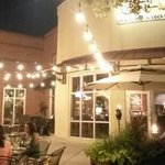 Crave's patio at night