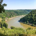 View from the Loreley across the Rhine from the hotel
