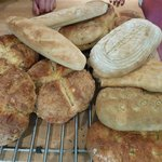 Delicious fresh breads made by us :-)