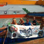 Pool raft race team