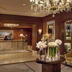 The hotel's elegantly appointed lobby