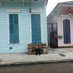 My daughter in front of Gentry House