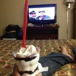 Shawshank Redemption and a Peanut Buster Parfait - perfect.