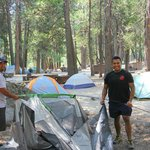 Setting up our tents