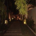 Walkway to Villas