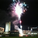 Post-game fireworks. July 30th, 2013.