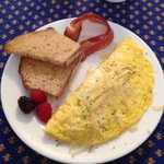 Omelet made from fresh eggs