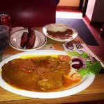 great bistec a la criolla. Big size!!