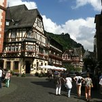 A city scene in Bacharach.