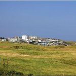 Across the golf course towards Pentire